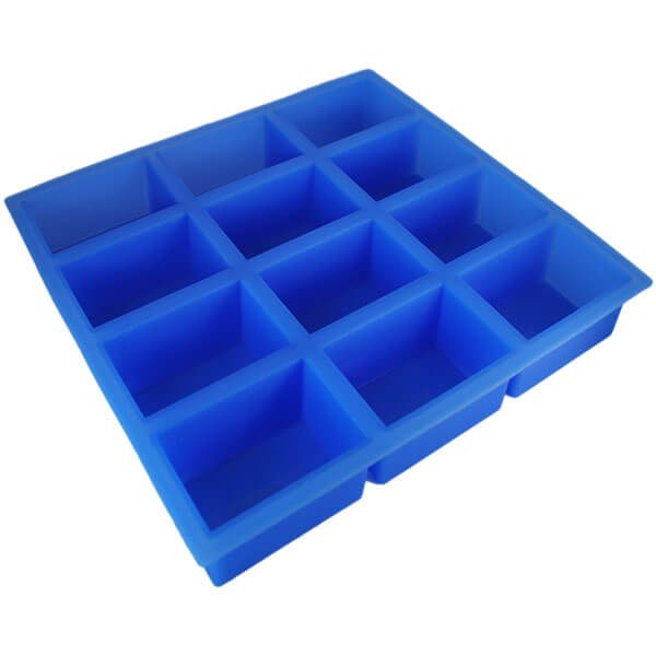 Rectangle Silicone (12 Cavities) Soap Mold