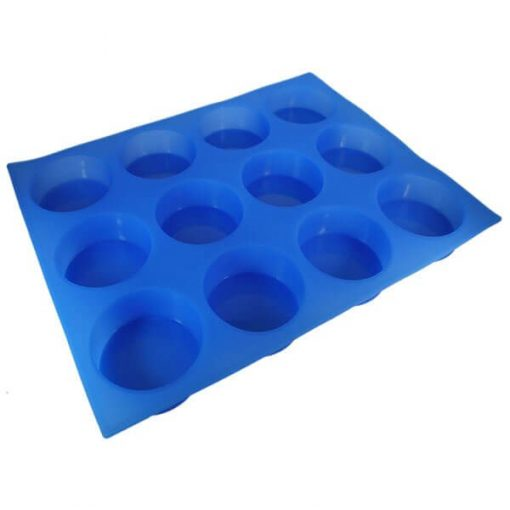 Round Silicone (12 Cavities) Soap Mold