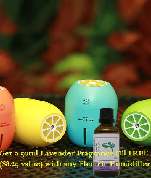 Lemon USB ultrasonic humidifier with Lavender Fragrance Oil-new