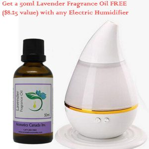 Ultrasonic diffuser SHM-02 with Lavender Fragrance Oil