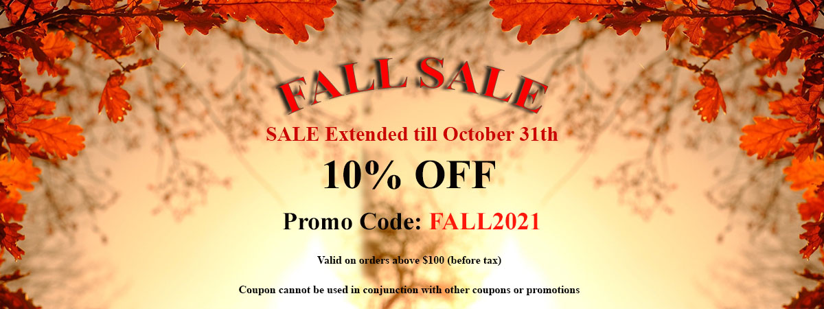 2021 Fall Sale 10% OFF Extended
